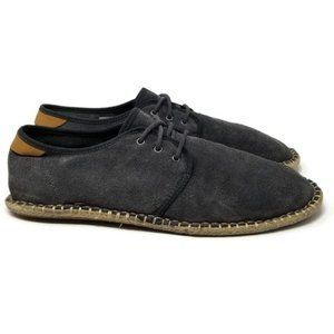 TOMS Diego Suede Forged Iron Lace Up Shoe 11
